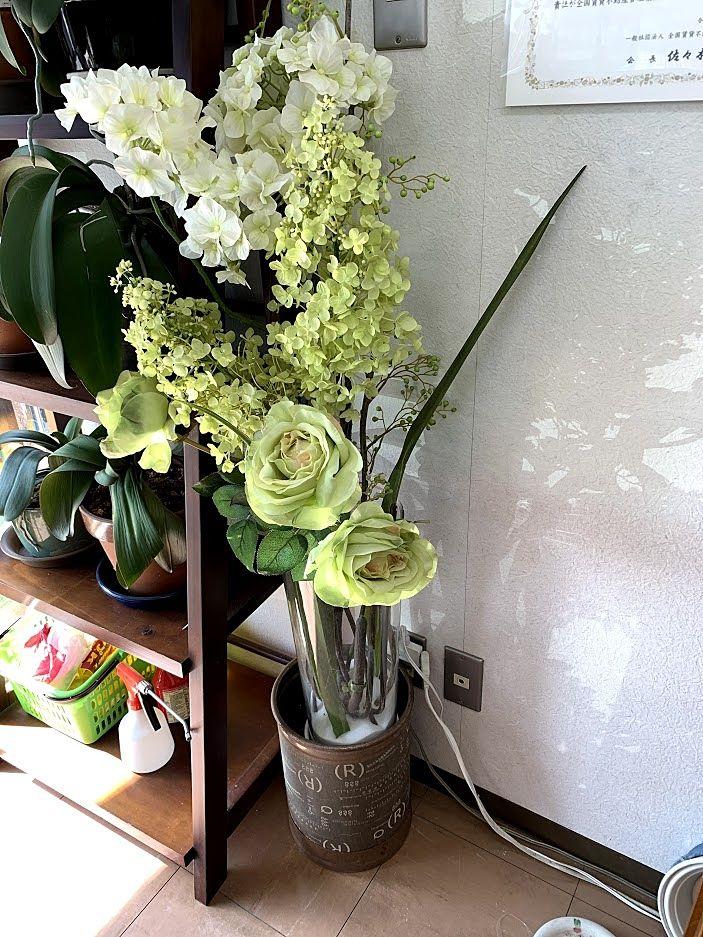 造花いただきました。